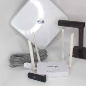 """Комплект для интернета Антенна """"MWtech""""М15 BOX+ USB Модем 3G/4G Huawei+ Wi-Fi роутер ZBT"""