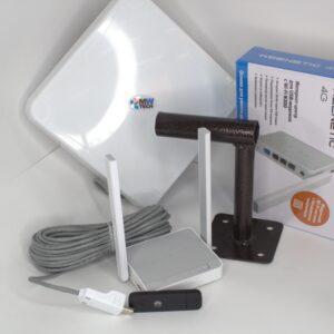 "Комплект для интернета Антенна ""MWtech""М15 BOX+ USB Модем 3G/4G Huawei+ Wi-Fi Keenetic 4G"