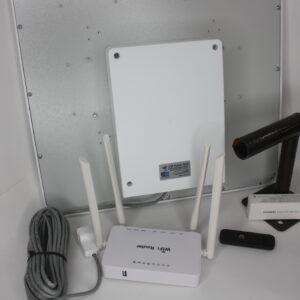 """Комплект для интернета Антенна """"MWtech"""" М18 BOX+ USB Модем 3G/4G """"Huawei""""+ Wi-Fi роутер ZBT"""
