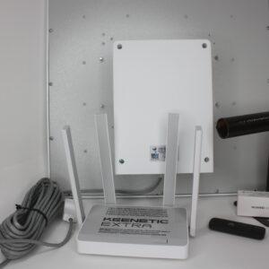 "Комплект для интернета Антенна ""MWtech""М20 BOX+ USB Модем 3G/4G ""Huawei""+ Wi-Fi Keenetic Extra"
