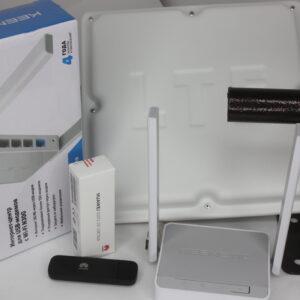 "Комплект для интернета Антенна ""ЦИФРИУС""С14 BOX+ USB Модем 3G/4G Huawei+ Роутер Wi-Fi Keenetic 4G"