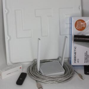 "Комплект для интернета Антенна ""ЦИФРИУС"" C20 Box + USB Модем 3G/4G ""Huawei""+ Роутер Wi-Fi Keenetic 4G"